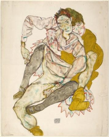 art-gmb-schiele-ego-seated-couple-1915